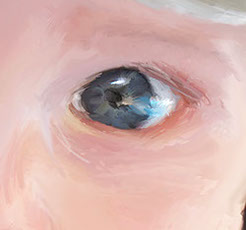 Close-up of eye by Tom Cutitta