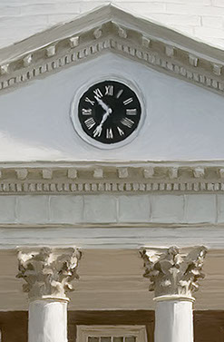 UVA Rotunda Clock by Cutitta